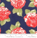 MODA FABRICS - Early Bird Blooms - Navy