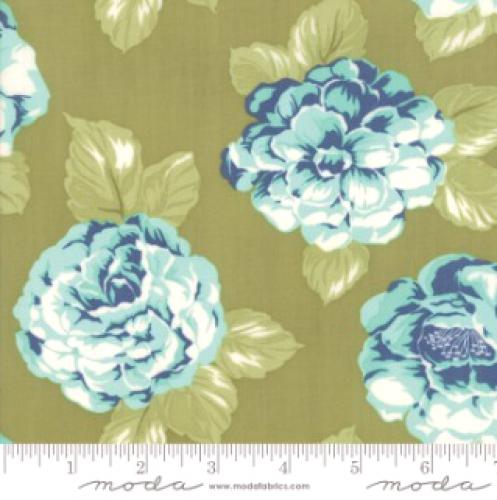 MODA FABRICS - Early Bird Blooms - Green - #3223-