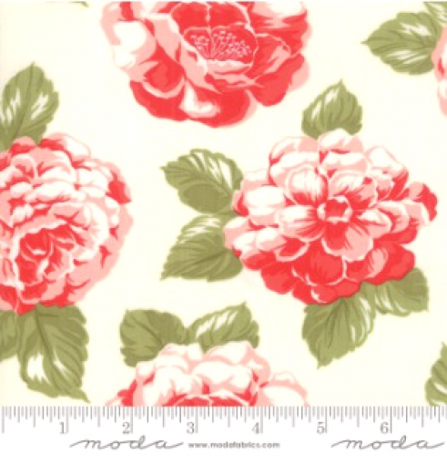 MODA FABRICS - Early Bird Blooms - Cream