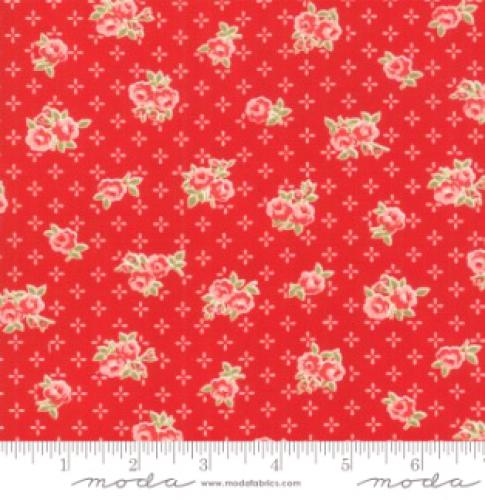 MODA FABRICS - Early Bird Sweet - Red - #3225-