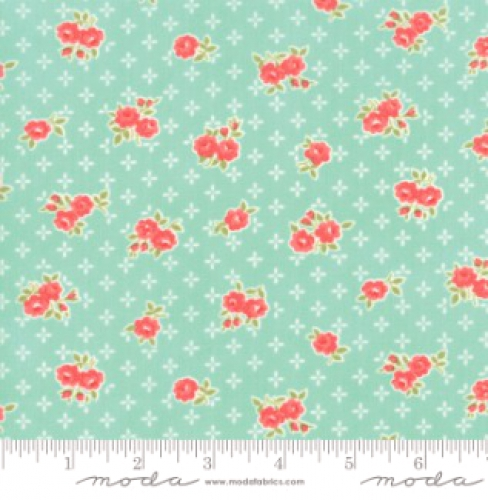 MODA FABRICS - Early Bird Sweet - Aqua