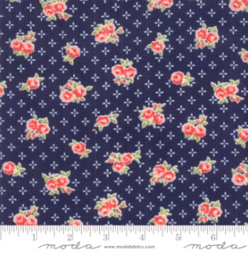 MODA FABRICS - Early Bird Sweet - Navy