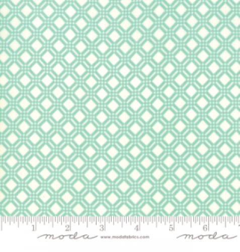 MODA FABRICS - Early Bird Check - Aqua