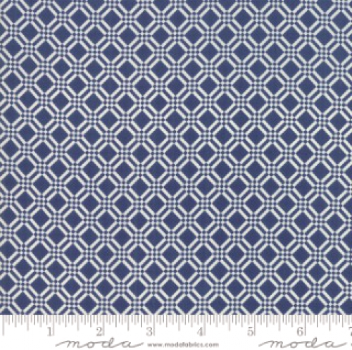 MODA FABRICS - Early Bird Check - Navy