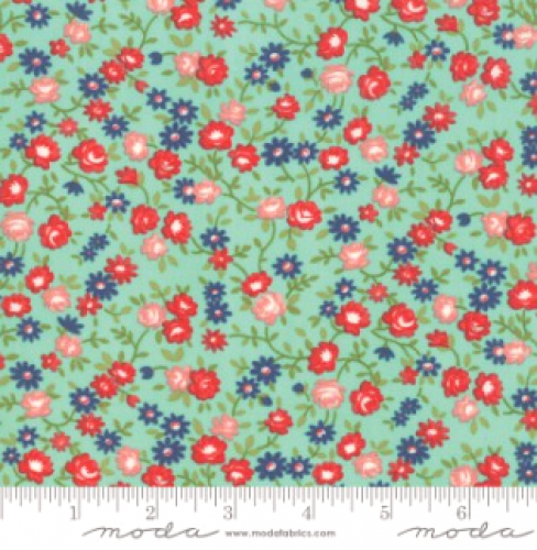 MODA FABRICS - Early Bird Rosie - Aqua
