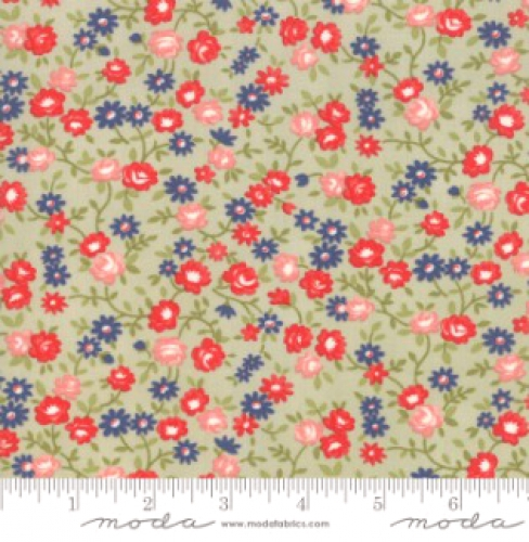 MODA FABRICS - Early Bird Rosie - Gray