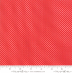 MODA FABRICS - Early Birds Dots - Red