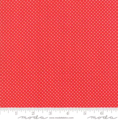 MODA FABRICS - Early Birds Dots - Red