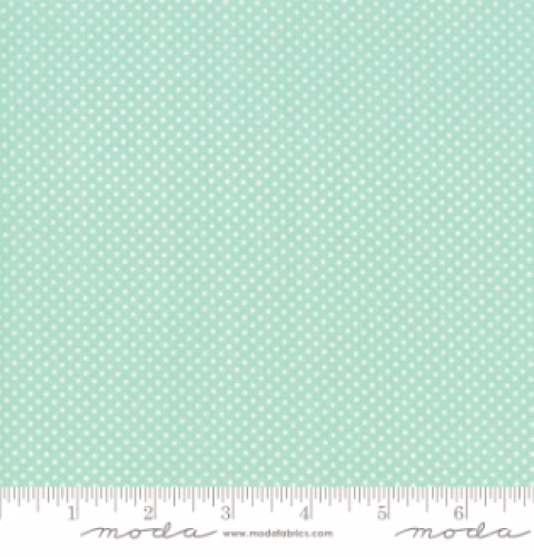 MODA FABRICS - Early Birds Dots - Aqua