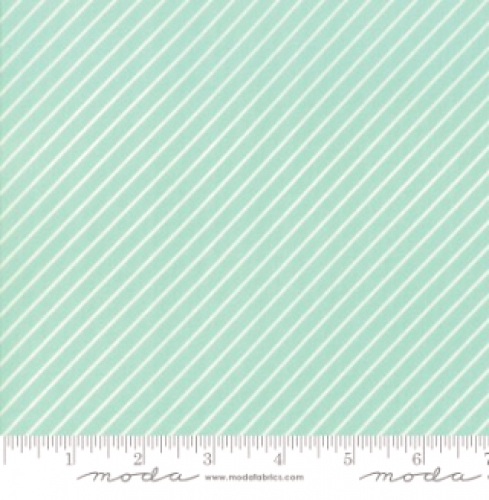MODA FABRICS - Early Bird Stripe - Aqua