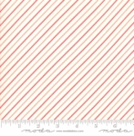 MODA FABRICS - Early Bird Stripe - Cream Red