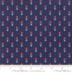 MODA FABRICS - Early Bird Tulips - Navy
