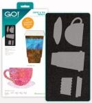 Accuquilt GO! 55212 Coffee & Tea Medley Limited Edition Die