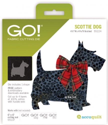 Accuquilt Die 55224 GO! Scottie Dog