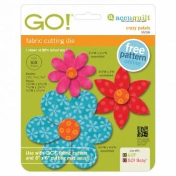 Accuquilt Die GO! 55326 Crazy Petals