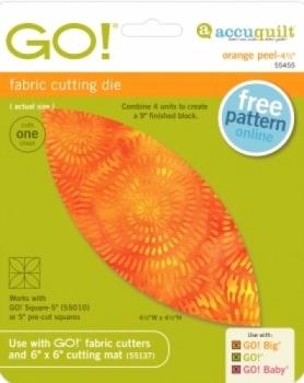 Accuquilt Die GO! 55455 Orange Peel 4.5 inch