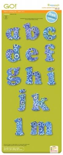 Accuquilt Die 55491 Carefree Alphabet Lowercase Set (2 Die Set)