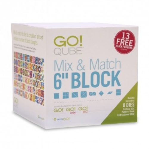 AccuQuilt GO! Qube Mix & Match 6 in Block