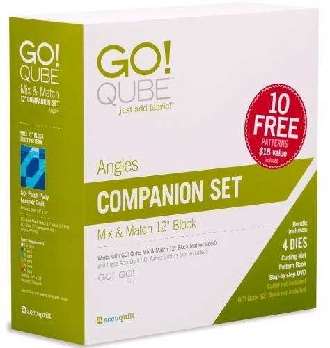 AccuQuilt GO! 55791 Qube 12 inch Companion Set - Angles
