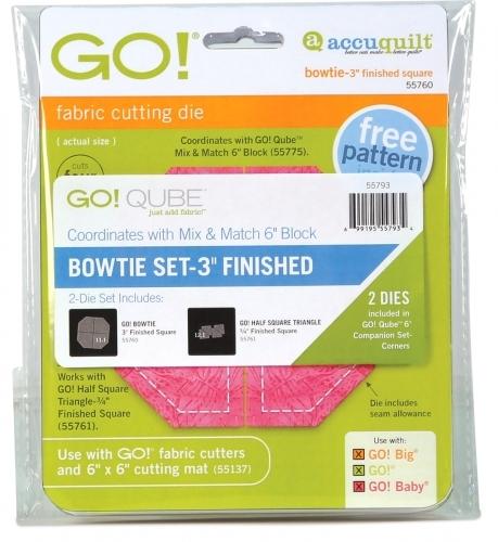 Accuquilt Die GO! 55793 Bowtie Set 3 Inch Finished (2 Die Set)