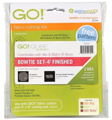 Accuquilt Die GO! 55794 Bowtie Set 4 Inch Finished (2 Die Set)