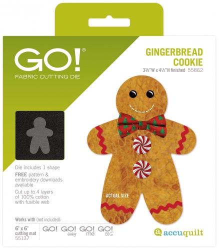 Accuquilt Die GO! 55862 Gingerbread Cookie