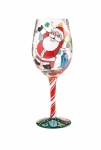 Designs by Lolita Wine Glass - A Claus For Celebration