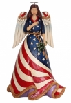 Jim Shore - Bless The USA - Patriotic Angel Figurine