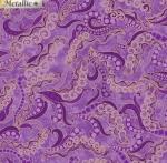 BENARTEX - Dog On It - Holey Scrolls - Purple - Metallic