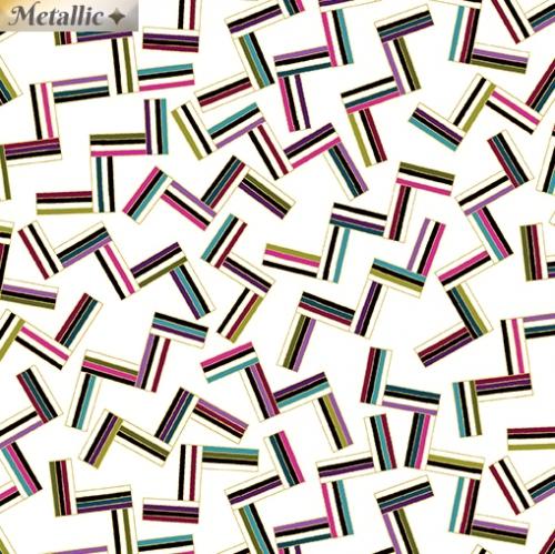 BENARTEX - Dog On It - Many Angles - White/Multi - Metallic