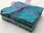 Six Batik Fat Quarter Bundle - Aqua