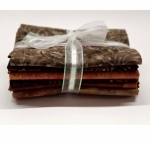 Six Batik Fat Quarter Bundle - Brown
