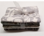 Six Batik Fat Quarter Bundle - Grey