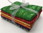 Six Batik Fat Quarter Bundle - Mixed