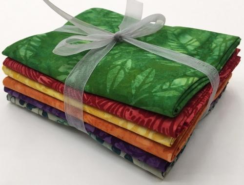Six Batik Fat Quarter Bundle - Mixed