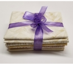 Six Batik Fat Quarter Bundle - Neutral
