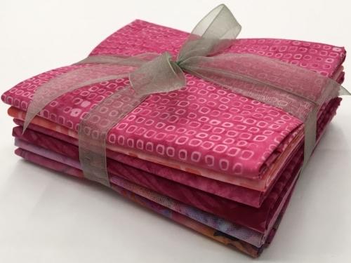 Six Batik Fat Quarter Bundle - Pink