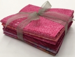 Six Batik Fat Quarter Bundle - Pink