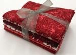 Six Batik Fat Quarter Bundle - Red