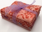 Six Batik Fat Quarter Bundle - Orange