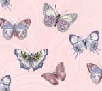 BENARTEX - Totally Tulips - Jackie Robinson - Butterfly Wave - Light Pink
