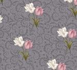 BENARTEX - Totally Tulips - Jackie Robinson - Tulip Twirl - Dark Grey