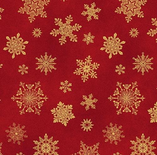 BENARTEX - Cat-i-tude Christmas - Playful Flakes Red