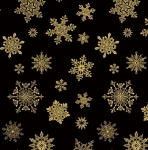 BENARTEX - Cat-i-tude Christmas - Playful Flakes Black