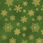 BENARTEX - Cat-i-tude Christmas - Playful Flakes Green