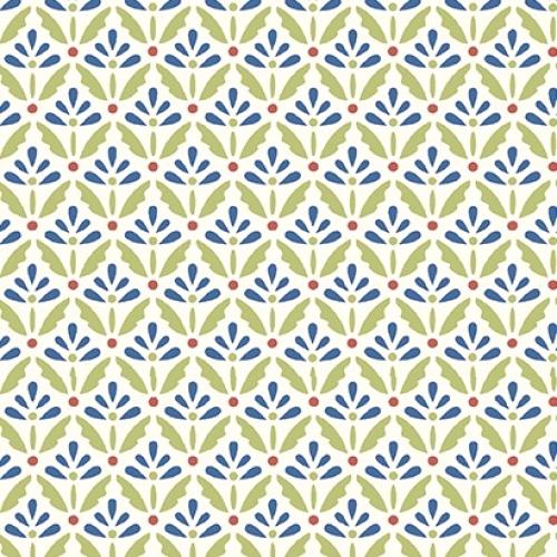 BENARTEX - Home Grown - Cream/Blue Floret - #1795-