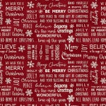 BENARTEX - A Jingle Bell Christmas - Painted Sky Studio - Believe in Magic - Berry