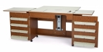 Arrow Bertha Sewing Cabinet Oak Drop Ship