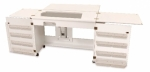 Arrow Bertha Sewing Cabinet White Drop Ship