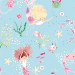 CAMELOT FABRICS - The Girls Collection - Mer-Girls Aqua